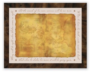 narnia map frame