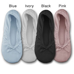 Blue or black slippers