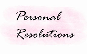 personal resolutions